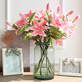 Noah Decoration European Hand-Blown and Handmade Light Green Flower and Filler Glass Vase Container for Home and Wedding Indoor and Outdoor Decoration