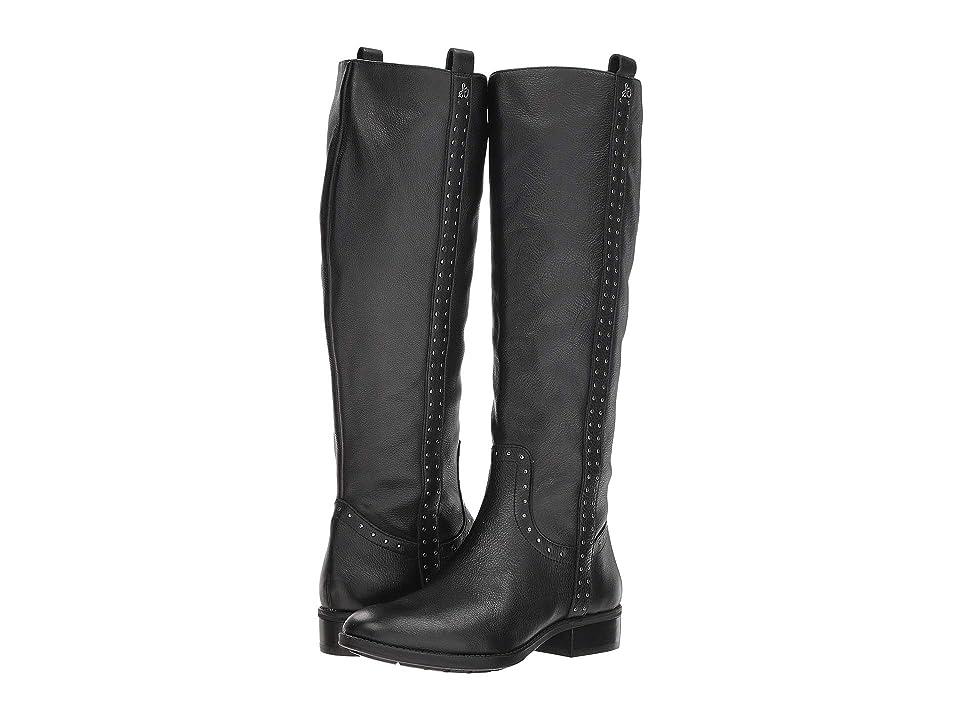 Sam Edelman Prina Leather Tall Boot (Black Neymar Leather) Women