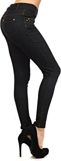 Fashion Mic Womens Ready to Wear Jean Leggings Black and Navy , rockstar (nvy))