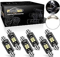 Partsam Festoon 41mm 42mm Canbus Error Free LED Light Bulbs Replacement Lights for Interior Lights Map Dome Door Courtesy Light Bulbs No-polarity 10-30V 211-2 578 569 -White 6Pcs