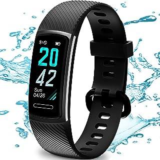 TEMINICE Monitor de Actividad física con Monitor de Ritmo cardíaco y sueño, Contador de calorías de Banda Inteligente, Contador de Pasos, podómetro para Hombres y Mujeres