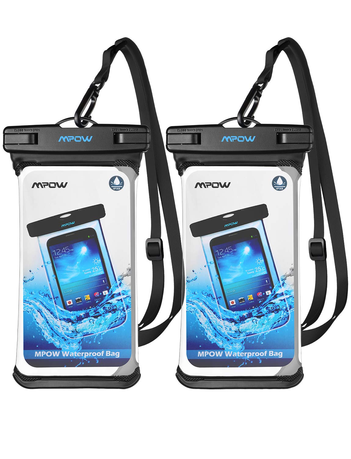 Mpow Waterproof Transparency Adjustable Compatible