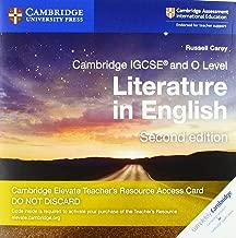 Cambridge IGCSE® and O Level Literature in English Cambridge Elevate Teacher's Resource Access Card (Cambridge International IGCSE)