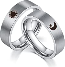 sun moon wedding rings