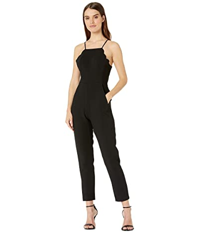 BCBGeneration Scalloped Jumpsuit GEF9194251 (Black) Women