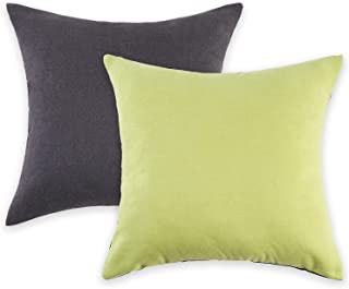 HARORBAY Decorative Pillow Covers 18×18 Set of 2, Square Throw Pillow Cover Pillowcase Cushion Covers Protectors for Couc...