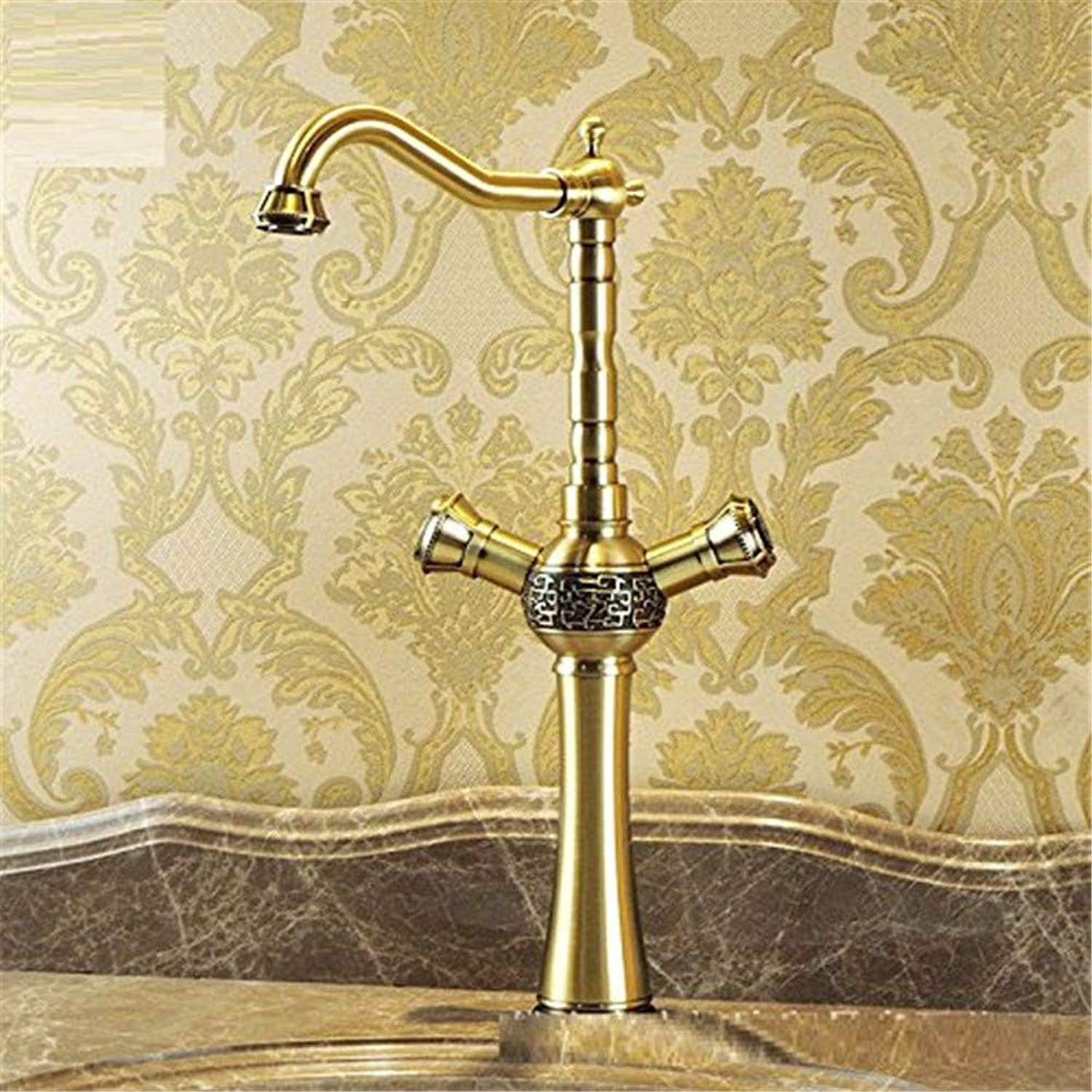 redOOY Taps Basin Double Basin Single Hole Cold Cold Cold And Hot Water Basin Faucet Taps f1ab12