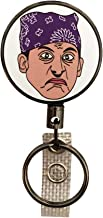 Balanced Co. Prison Mike Heavy Duty Retractable Badge Holder Reel, Metal ID Badge Holder with Belt Clip Key Ring for Name Card Keychain