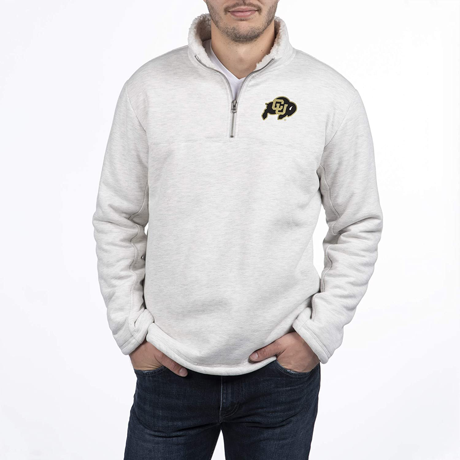 Top of the World Mens Pikes Sherpa Lined 1/2 Zip Pullover