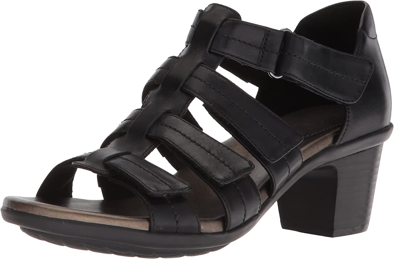 Aravon Women's Medici II Gladiator Heeled Sandal Black