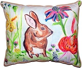 "Betsy Drake SN366A Brown Rabbit Right Pillow, 11"" x14"""
