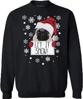 Awkward Styles Let it Snow Sweatshirt Ugly Christmas Sweater Santa Pug Christmas Sweatshirt