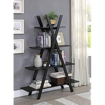 "Convenience Concepts Oxford ""A"" Frame Bookshelf, Black"