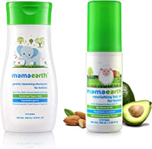 Mamaearth Gentle Cleansing Shampoo for Babies (200 ml, 0-5 Yrs) & Nourishing Hair Oil for Babies 100ml (0-10 Years) Combo