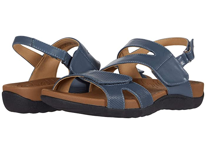 Rockport  Ridge Asymmetrical Strap (Blue) Womens Sandals