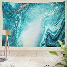 Summor Tapestry Abstract Ocean Art Natural Swirls Marble Ripples Agate Hanging Tapestries 50 x 60 inch Wall Hanging Decor for Bedroom Livingroom Dorm