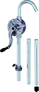 JAANHUEI RP91AJH Aluminum Rotary Drum Pump Hand Pump for Drum Barrels Patented in Taiwan Silver/Grey 56.1 inches (142.5 cm) PPS Vane, NBR Seals 9.4 oz. (280 cc) per rotation for 5, 15, 30, 55 gal