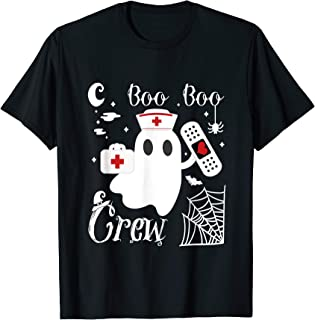 Boo Boo Crew Funny Ghost Nurse Halloween Costume T-Shirt