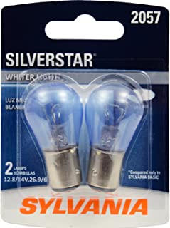 SYLVANIA - 2057 SilverStar Mini Bulb - Brighter and Whiter Light, Ideal for Daytime Running Lights (DRL) and Reverse Lights (Contains 2 Bulbs)