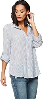 Elisa' Women's Contemporary Button Down Top; Rolled Sleeves, Printed, Lightweight. An Instant Classic!