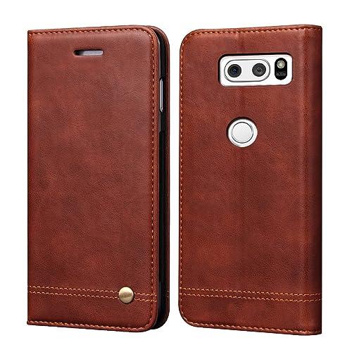 huge selection of ce7df a1e66 LG V30 Leather Case: Amazon.com