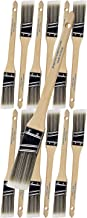 12 Piece 1 inch Angle Sash Paint Brushes Medium Stiff. Great for Professional Painters and homeowners. Wall Paint Brushes for Decks,Fences,Trim,Interior & Exterior