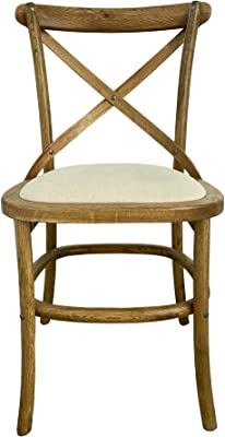 Shack Hamptons Oak Cafe Chair with Linen Seat, Honey Brown (CCL1)