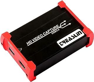 TreasLin USB3.0 HDMI ビデオキャプチャーボード Switch PS4 Xbox Wii U、PS3用サポート(HDMI Loop-out、HD HDMIゲー...