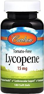 Carlson - Lycopene, 15 mg, Tomato-Free, Prostate Health & Cardiovascular Support, Optimal Wellness, 180 Softgels
