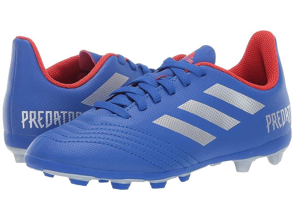 adidas Kids Predator 19.4 FxG Soccer (Little Kid/Big Kid) (Blue/Silver/Active Red) Kids Shoes
