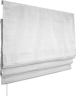 Victoria M. Estor Plegable, Cortina Plegable paqueto - Klemmfix (fijación sin taladrar) 140 x 175cm, Blanco