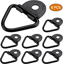 Anumit Cargo Tie Down Anchors, 8pcs V-Ring Tie Down Anchors D Loop Bracket Mounted Duty Steel D-Ring Bolts Clip Floor Hook for Pickup Trucks, Truck, ATV, Trailer, Warehouse, Boat
