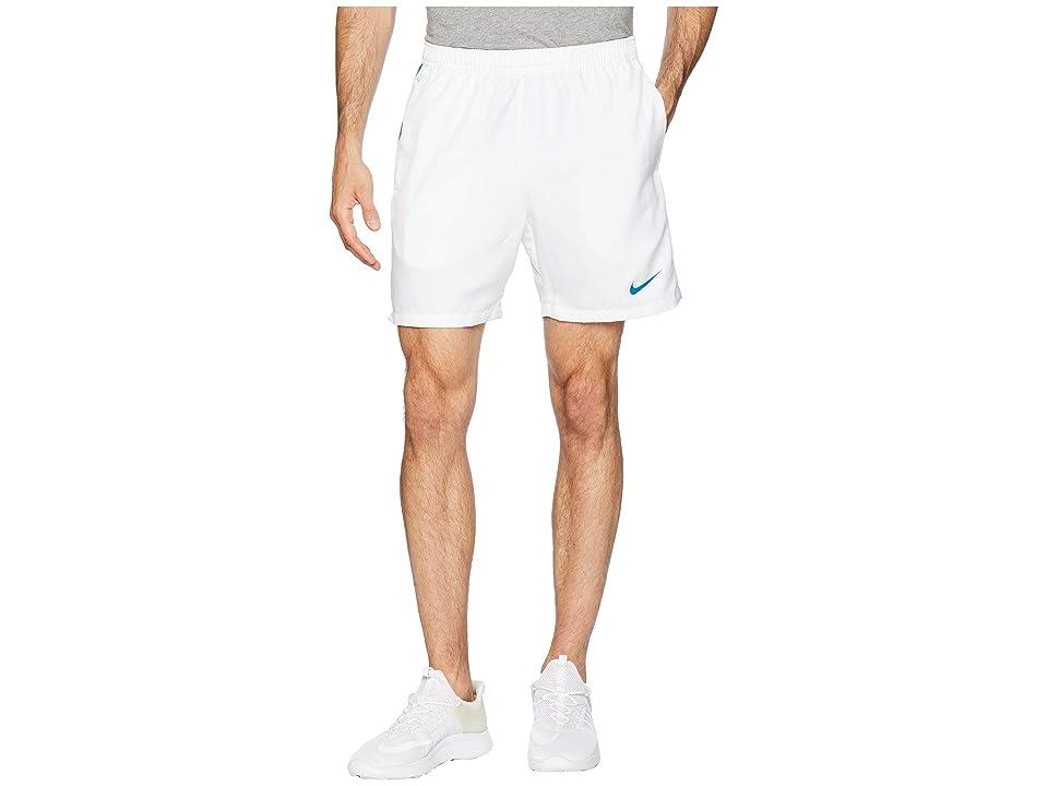 Nike Court Dry 7 Tennis Short (White/Military Blue/Military Blue) Men