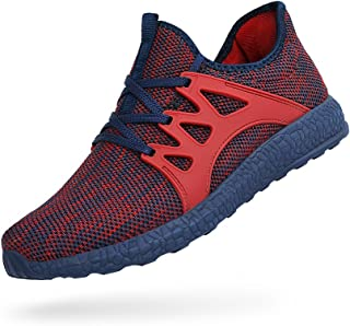 Feetmat Womens Ultrs Lightweight Shoes Breathable Mesh Athletic Walking Running Sneakers Red/Blue 9