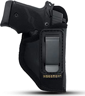 IWB Tuckable ECO Leather Concealment Holster Inside The Waist with Metal Clip FIT Glock 43 & 42, SIG P365, KAHR PM 45, MAKAROV, KELTEC PF9 / P11