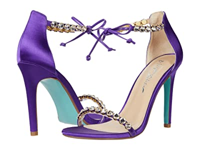 Blue by Betsey Johnson Gilly Heeled Sandal (Purple) Women