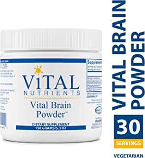 Vital Nutrients - Vital Brain Powder - Support for Brain Health and Cognitive Function - Vegetarian - 150 Grams