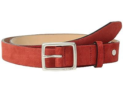 rag & bone Boyfriend Belt (Fiery Red Suede) Women