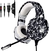 ONIKUMA Xbox One Gaming Headset, PS4 Headset with 7.1 Surround Sound,Noise Canceling Over-Ear Headphones with Mic, Soft Memory Earmuff for PS4, PC, Xbox One Controller PS2 Nintendo Switch
