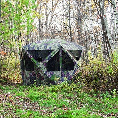 Barronett Blinds PT550BW Pentagon Pop Up Portable Hunting Blind, Bloodtrail Backwoods Camo