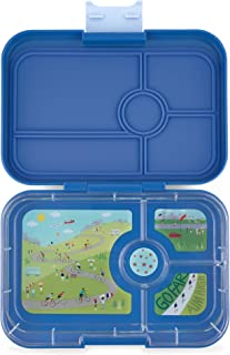 YUMBOX TAPAS Larger Size (True Blue) 4 Compartment Leakproof Bento Lunch Box for Kids, Teens and Adults