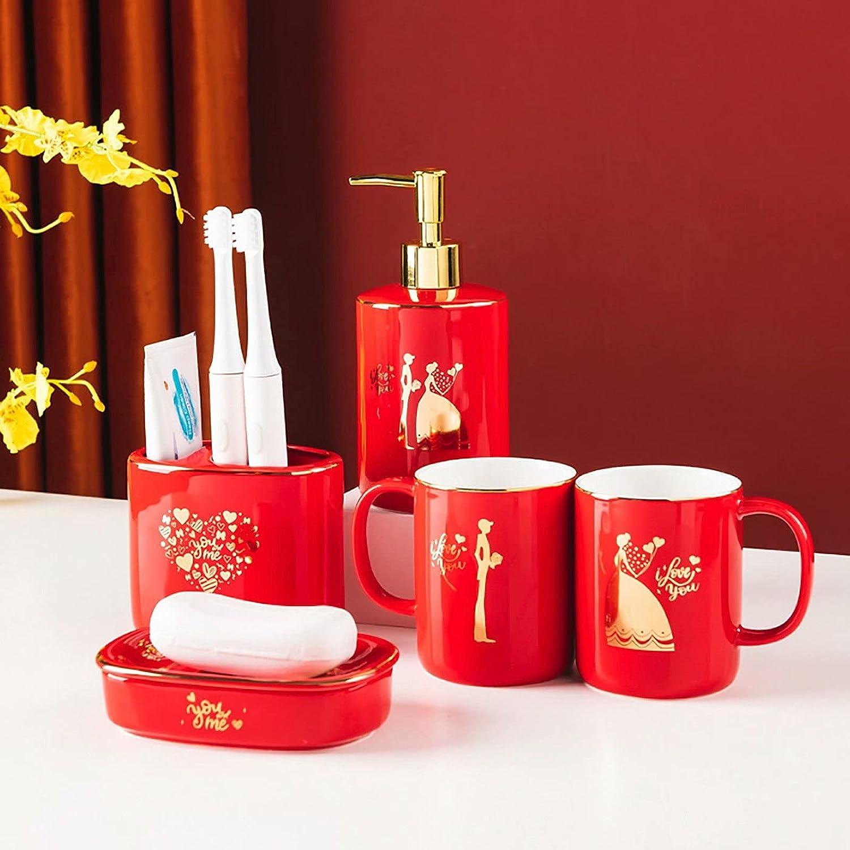 JruF Bathroom Accessories Set 5 Pcs Comp Bath Ceramic Accessory Discount is also underway Max 53% OFF