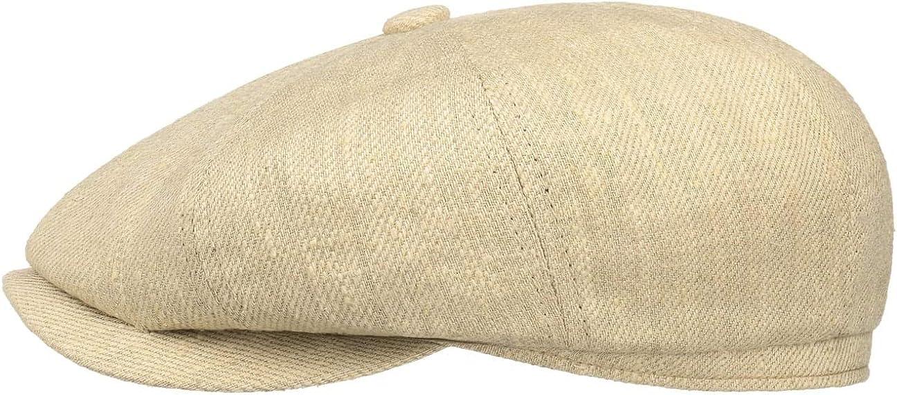 Dezente Sommerm/ütze Herrencap Stetson Baumwolle-Leinen Ivy Flatcap Schirmm/ütze Herren Sommercap mit UV Schutz 40 Sonnencap Fr/ühjahr//Sommer