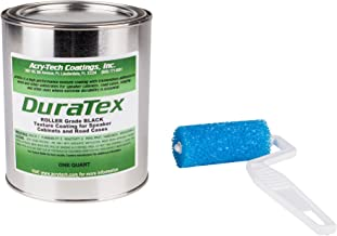 """Acry-Tech DuraTex Black 1 Quart Roller Grade Cabinet Texture Coating Kit with Textured 3"""" Roller"""