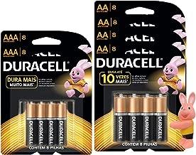 Pilha Alcalina Palito Aaa Duracell, Duracell, Aaa C/16,