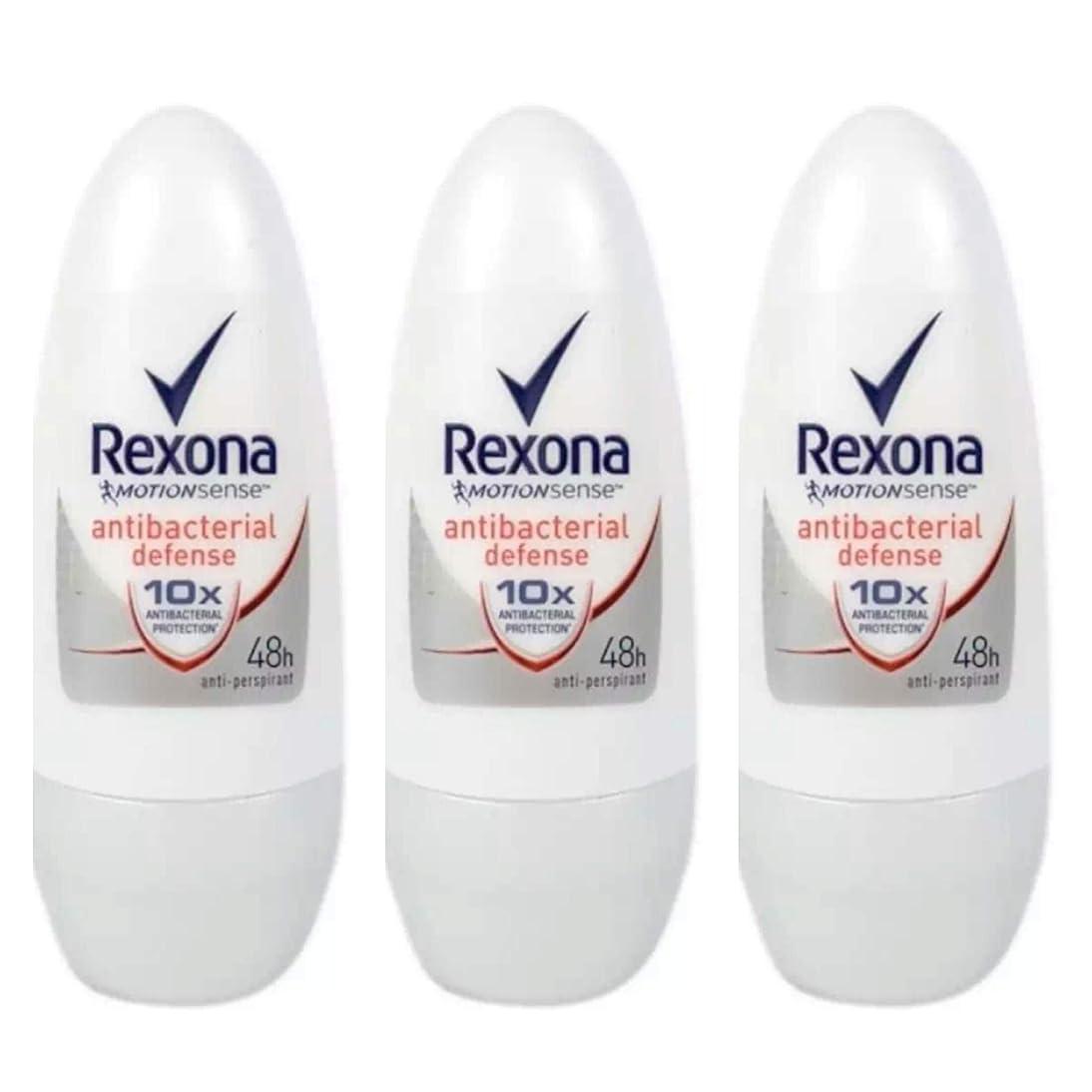 Rexona レクソナ 制汗 デオドラント ロールオン antibacterial defense アンチバクテリアル ディフェンス50ml 3個 [並行輸入品]