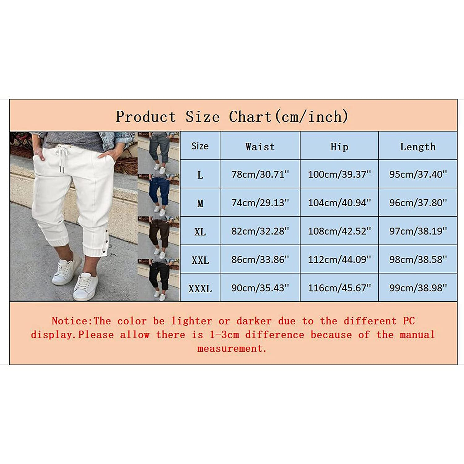 Kledbying Women's High Waist Tie Foot Button Lace-up Solid Color Casual Pants