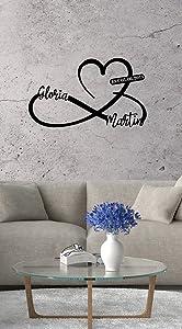 Heart and Infinity, Custom Metal Wall Art, Modern Home Decoration, Metal Wall Decor, Housewarming Gift, Custom Metal Signs, Personalized Metal Signs, House Decor (Black)