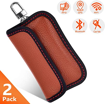 Key Security Accessories,cell Phone Protection Security WIFI//NFC Blocker key signal blocker pouch 2X Car Key Signal Blocker Case Lio SHAAR Car Keys Keyless Entry Fob Guard Signal Blocking Pouch Bag
