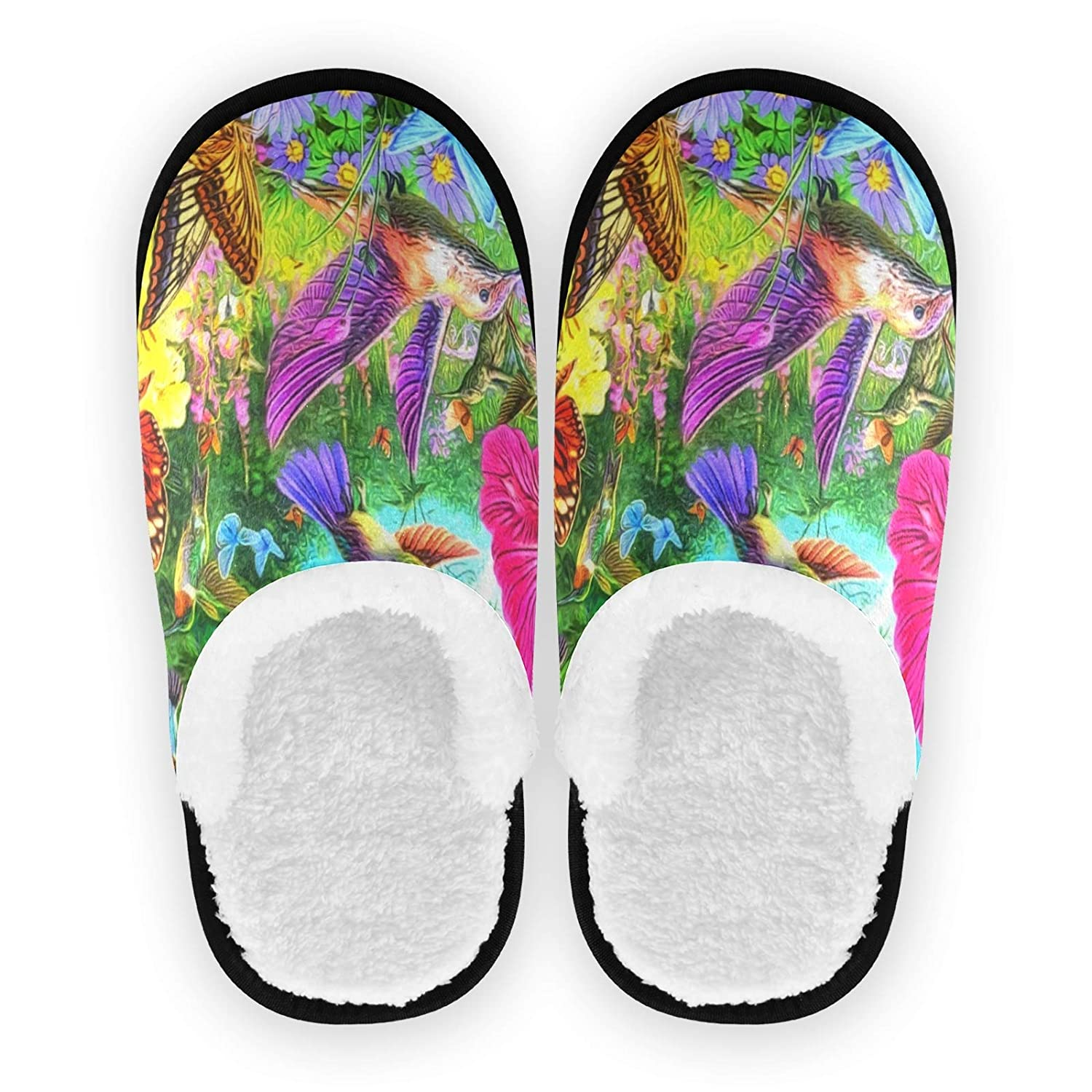 ALAZA Hummingbird Flower Blossom Bird Fort Worth Mall Slippers Excellence S Home Floral Non